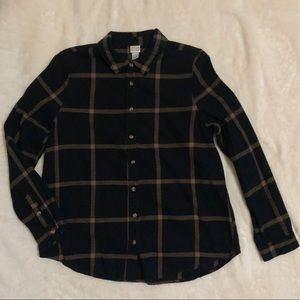 Canyon River Blues Black/gold-brown flannel